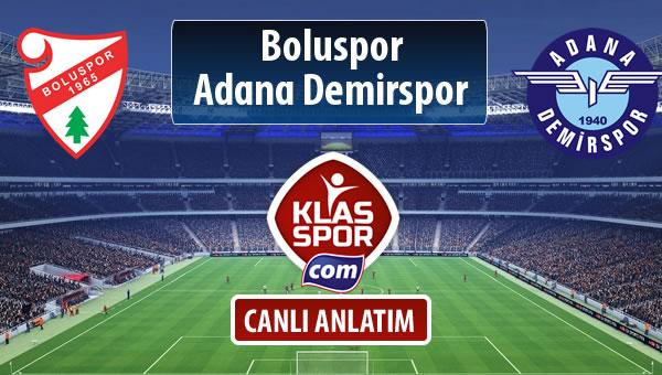 Boluspor - Adana Demirspor sahaya hangi kadro ile çıkıyor?