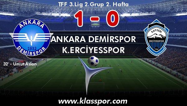 Ankara Demirspor 1 attı, 3 aldı