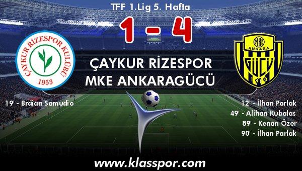 Çaykur Rizespor 1 - MKE Ankaragücü 4