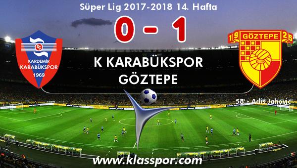 K Karabükspor 0 - Göztepe 1
