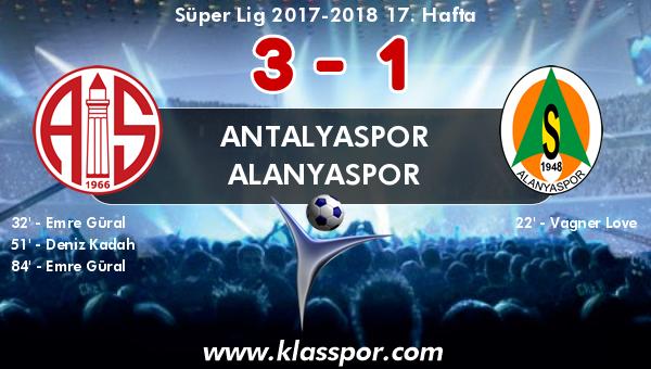 Antalyaspor 3 - Alanyaspor 1