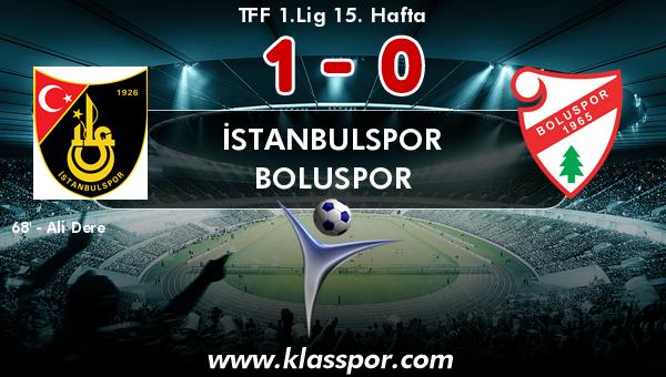 İstanbulspor 1 - Boluspor 0