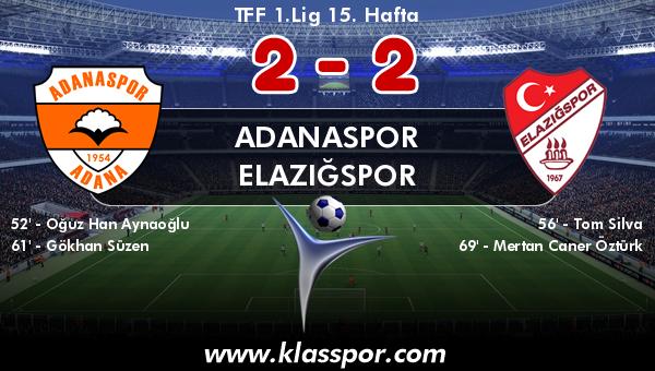 Adanaspor 2 - Elazığspor 2