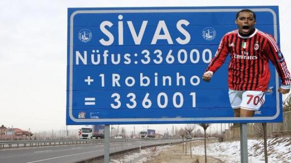 Sivas Belediyesi'nden ilginç Robinho paylaşımı!
