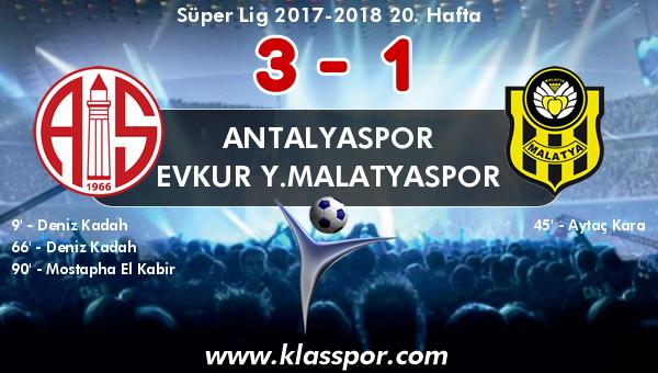 Antalyaspor 3 - Evkur Y.Malatyaspor 1