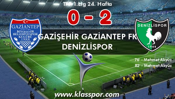 Gazişehir Gaziantep FK 0 - Denizlispor 2