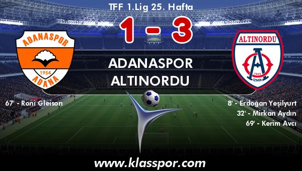 Adanaspor 1 - Altınordu 3
