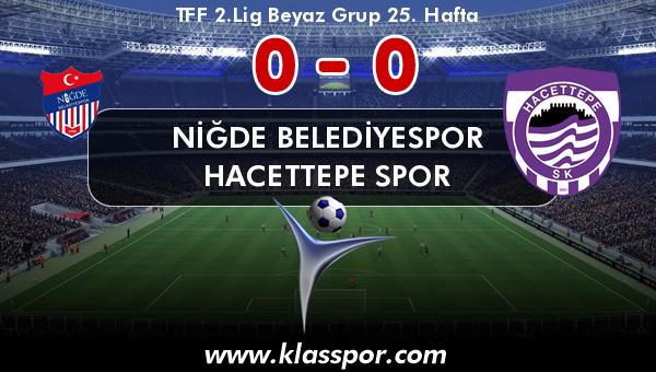 Niğde Belediyespor 0 - Hacettepe Spor 0