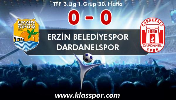 Erzin Belediyespor 0 - Dardanelspor 0
