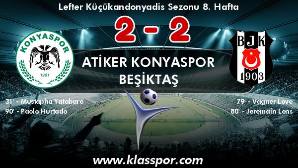 Atiker Konyaspor 2 - Beşiktaş 2