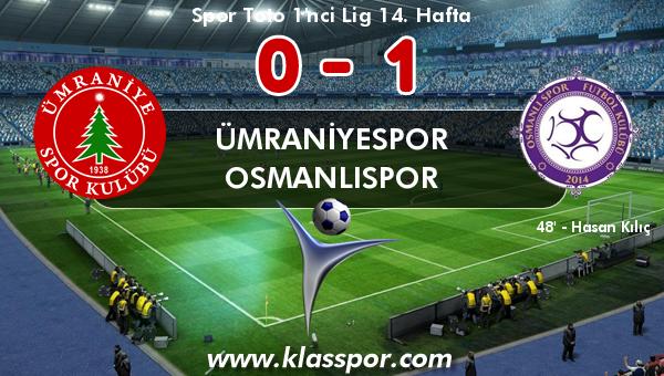 Ümraniyespor 0 - Osmanlıspor 1