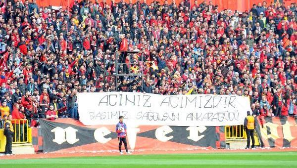 Eskişehir'de de Ankaragücü taraftarları anıldı!