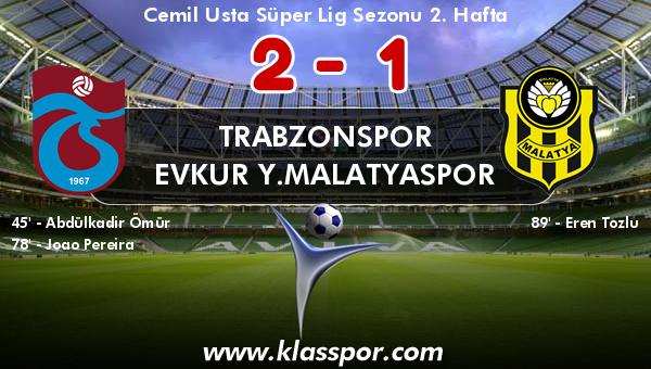 Trabzonspor 2 - Evkur Y.Malatyaspor 1
