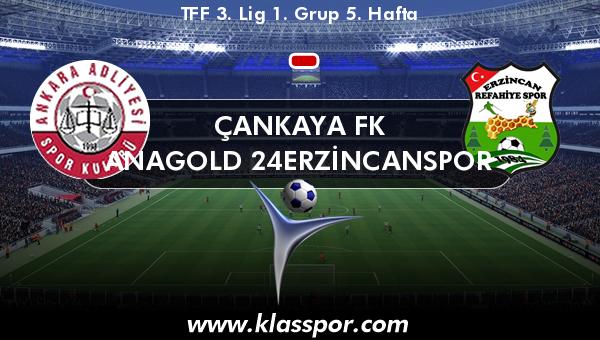 Çankaya FK  - Anagold 24Erzincanspor