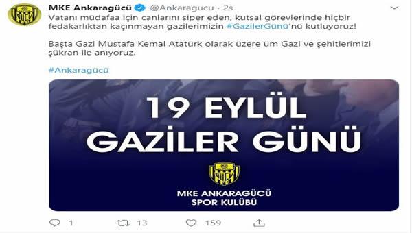 MKE Ankaragücü Gaziler Gününü kutladı