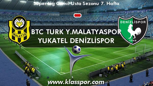 BTC Turk Y.Malatyaspor  - Yukatel Denizlispor