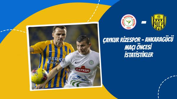 Çaykur Rizespor - Ankaragücü maçı öncesi istatistikler