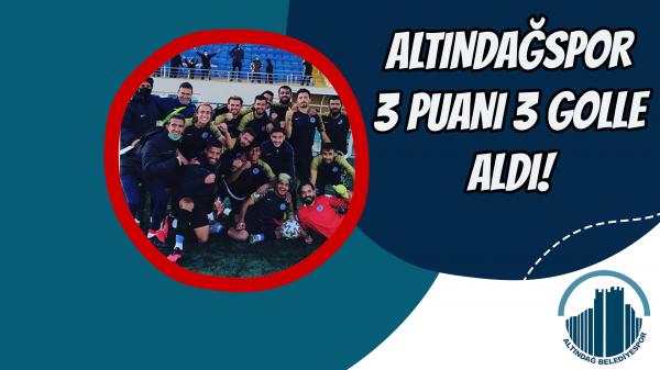 Altındağspor 3 Puanı 3 golle aldı!