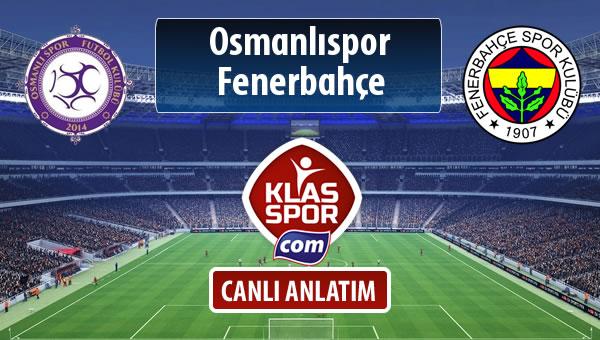Osmanlıspor - Fenerbahçe maç kadroları belli oldu...