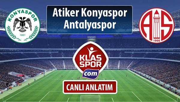 Atiker Konyaspor - Antalyaspor sahaya hangi kadro ile çıkıyor?