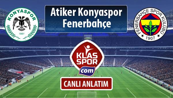 Atiker Konyaspor - Fenerbahçe maç kadroları belli oldu...