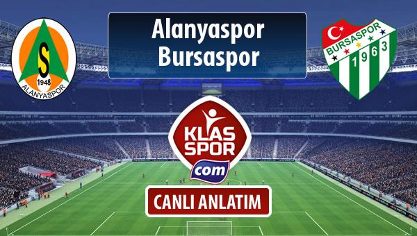 İşte Alanyaspor - Bursaspor maçında ilk 11'ler