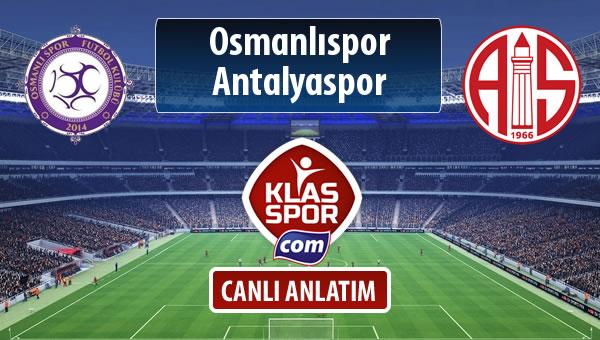 Osmanlıspor - Antalyaspor sahaya hangi kadro ile çıkıyor?