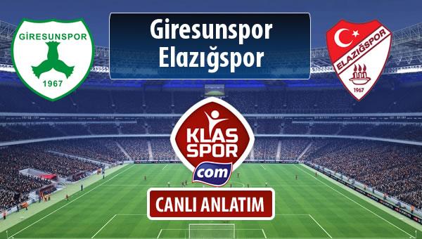 Giresunspor - Elazığspor maç kadroları belli oldu...