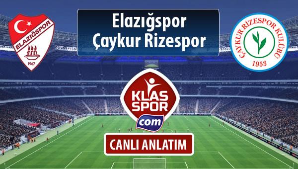 Elazığspor - Çaykur Rizespor maç kadroları belli oldu...