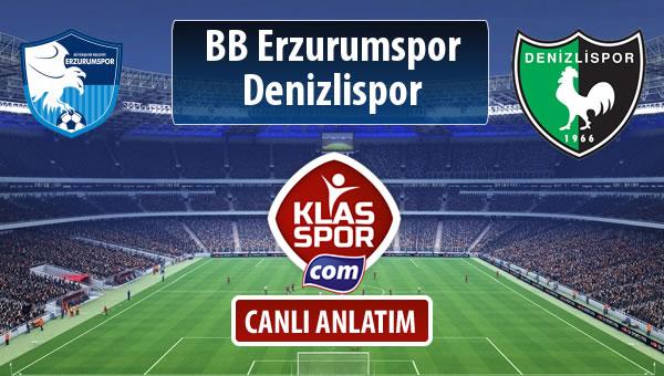 İşte BB Erzurumspor - Denizlispor maçında ilk 11'ler