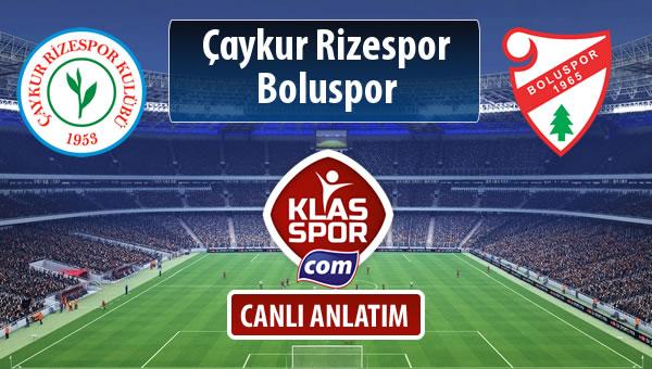 İşte Çaykur Rizespor - Boluspor maçında ilk 11'ler