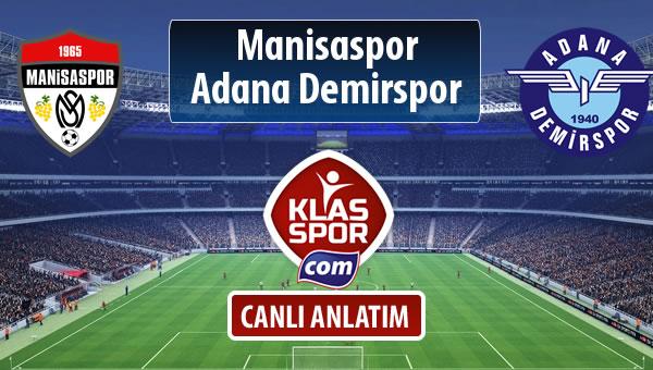 İşte Manisaspor - Adana Demirspor maçında ilk 11'ler