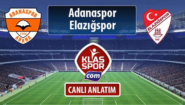 Adanaspor - Elazığspor sahaya hangi kadro ile çıkıyor?