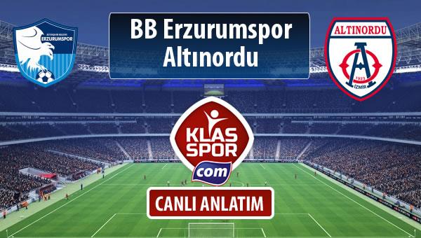 BB Erzurumspor - Altınordu maç kadroları belli oldu...