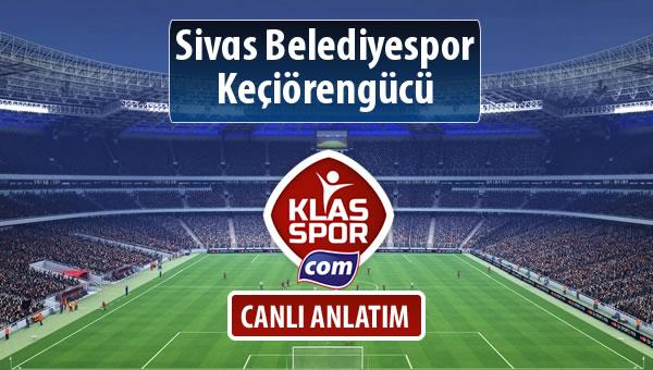 İşte Sivas Belediyespor - Keçiörengücü maçında ilk 11'ler