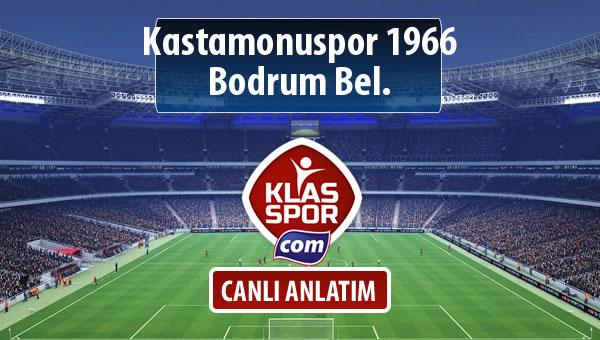 Kastamonuspor 1966 - Bodrum Bel. sahaya hangi kadro ile çıkıyor?