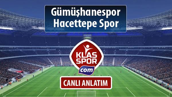 Gümüşhanespor - Hacettepe Spor sahaya hangi kadro ile çıkıyor?