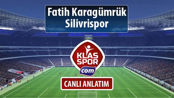Fatih Karagümrük - Silivrispor maç kadroları belli oldu...