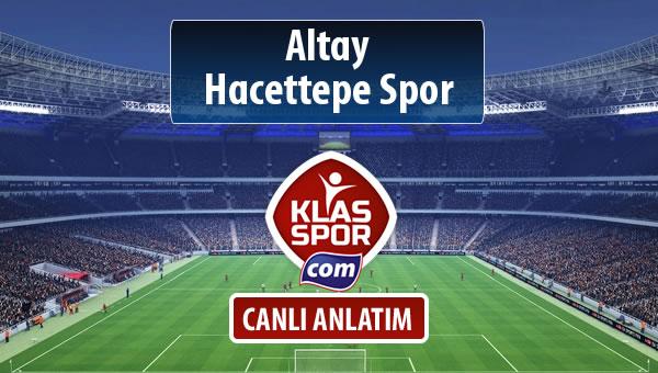 Altay - Hacettepe Spor maç kadroları belli oldu...