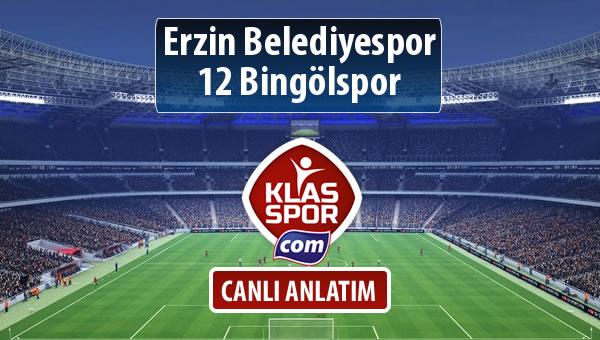 Erzin Belediyespor - 12 Bingölspor maç kadroları belli oldu...