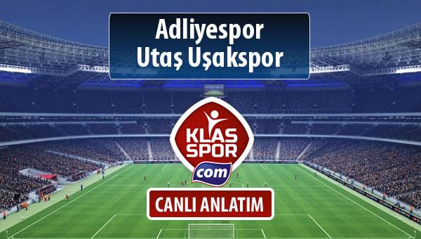 İşte Adliyespor - Utaş Uşakspor maçında ilk 11'ler