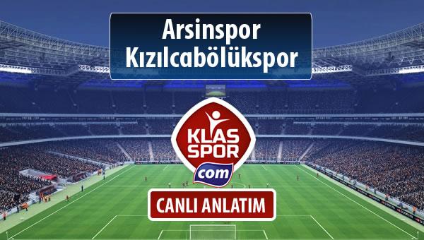 Arsinspor - Kızılcabölükspor maç kadroları belli oldu...