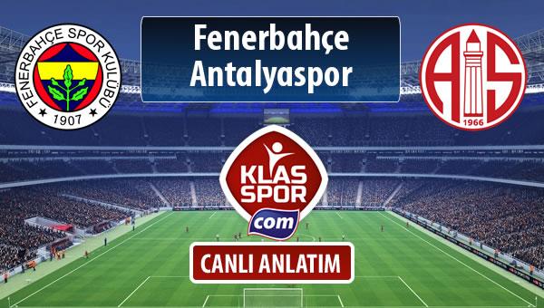 İşte Fenerbahçe - Antalyaspor maçında ilk 11'ler