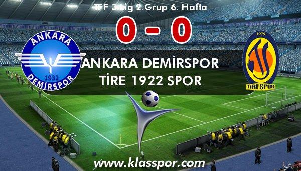Ankara Demirspor, Tire 1922 ile yenişemedi!