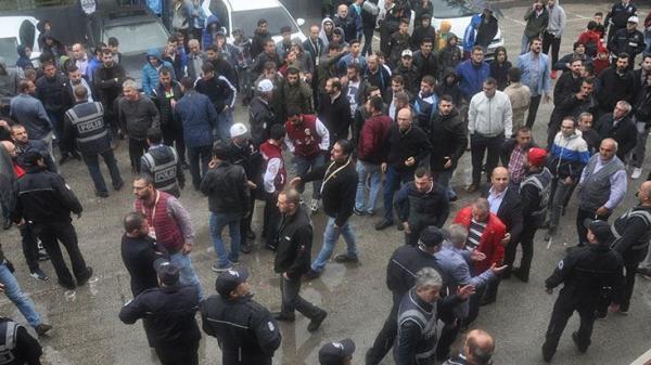 İnegölspor - Kocaeli Birlikspor maçı sonrası olaylar çıktı