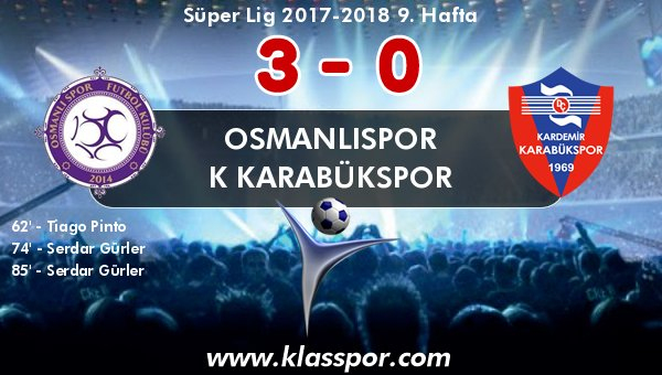 Osmanlıspor, Serdar ile gürledi!