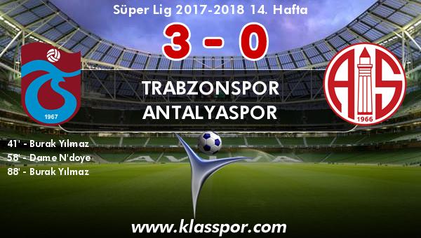 Trabzonspor 3 - Antalyaspor 0