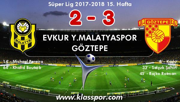 Evkur Y.Malatyaspor 2 - Göztepe 3