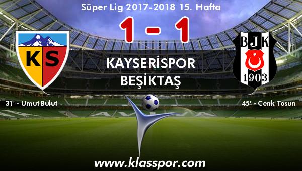 Kayserispor 1 - Beşiktaş 1
