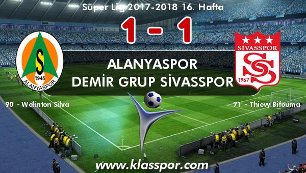 Alanyaspor 1 - Demir Grup Sivasspor 1